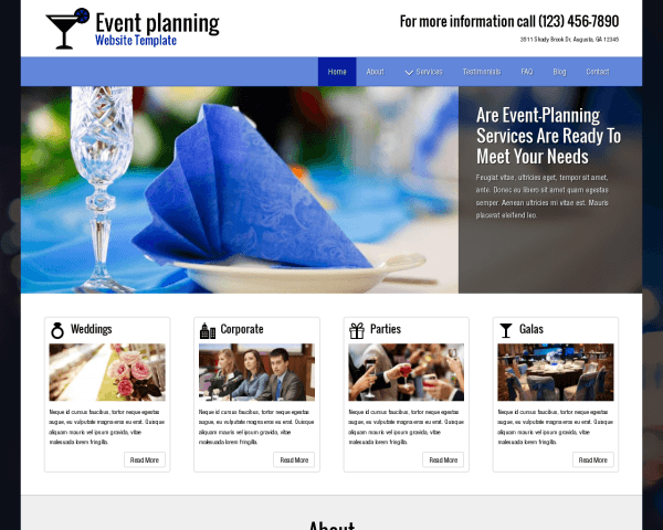 party planner wordpress theme premium site template. Black Bedroom Furniture Sets. Home Design Ideas