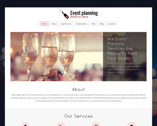 Event Planning Wordpress Theme