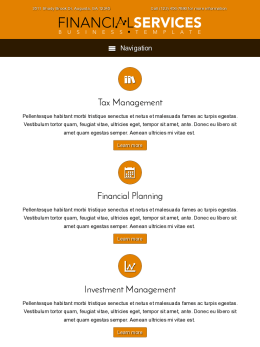 tablet screenshot WordPress theme 'Financial Services WordPress theme'