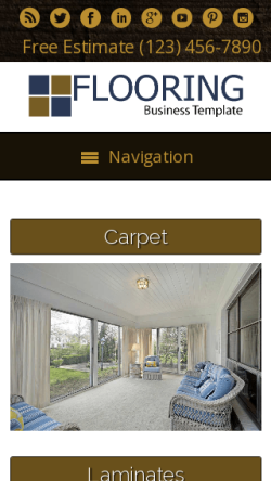 mobile phone screenshot WordPress theme 'Flooring WordPress theme'
