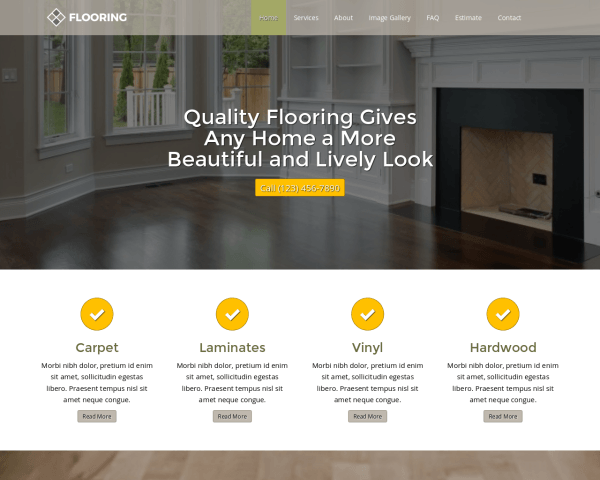 Flooring Website Template