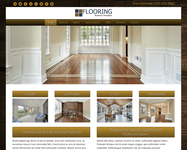 Flooring WordPress theme thumbnail (desktop screenshot)