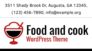 landscape iphone mobile of WordPress theme 'Food And Cook Wordpress Theme'
