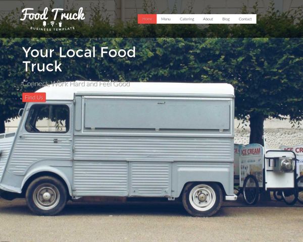 Food truck wordpress theme premium website template for Design your own food truck online