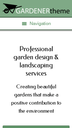 mobile phone screenshot WordPress theme 'Gardener WordPress theme'