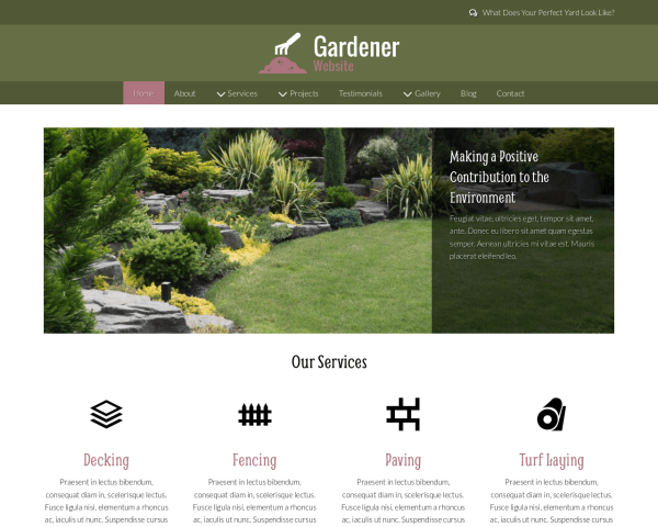 Desktop screenshot of the Gardener Website