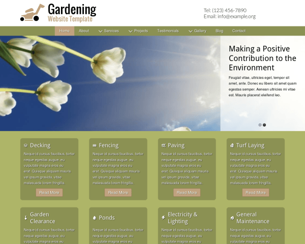 Gardening Website Template