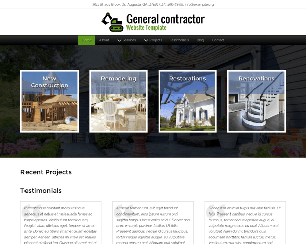 image representation of the General Contractor Website Template
