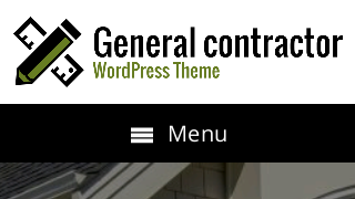 landscape iphone mobile of WordPress theme 'General Contractor Wordpress Theme'