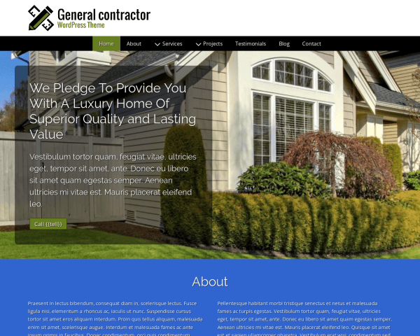 image representation of the General Contractor Wordpress Theme