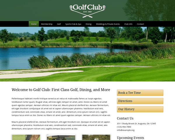 Golf club wordpress theme web template for club managers for Golf tournament budget template