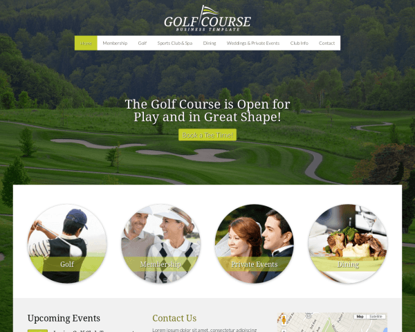 Golf Course Wordpress Theme