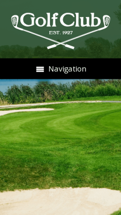 mobile phone screenshot WordPress theme 'Golf Club WordPress theme'