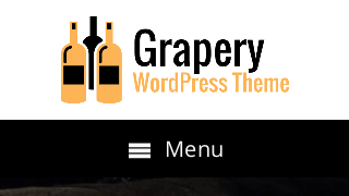 landscape iphone mobile of WordPress theme 'Grapery Wordpress Theme'
