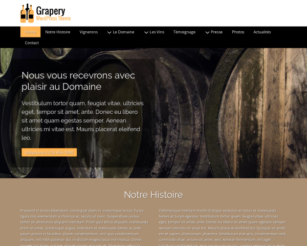 Grapery WordPress Theme thumbnail (desktop screenshot)