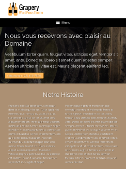 tablet screenshot WordPress theme 'Grapery Wordpress Theme'