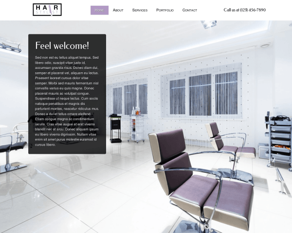 Hair Stylist Wordpress Theme