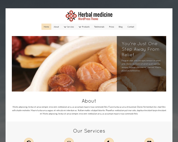 Herbal Medicine Wordpress Theme