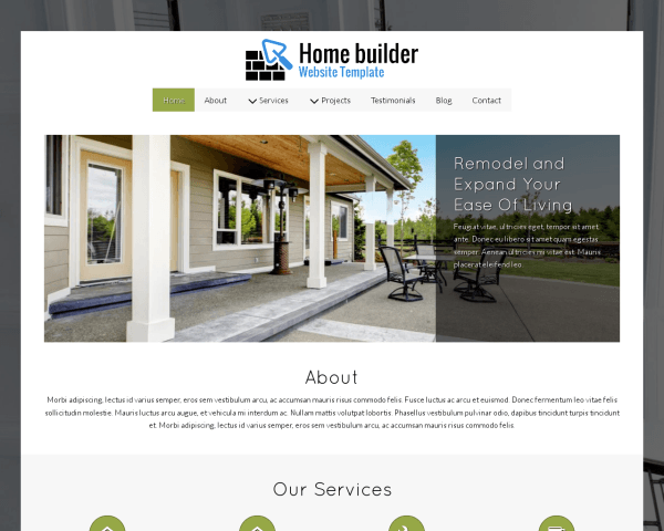 image representation of the Home Builder Website Template