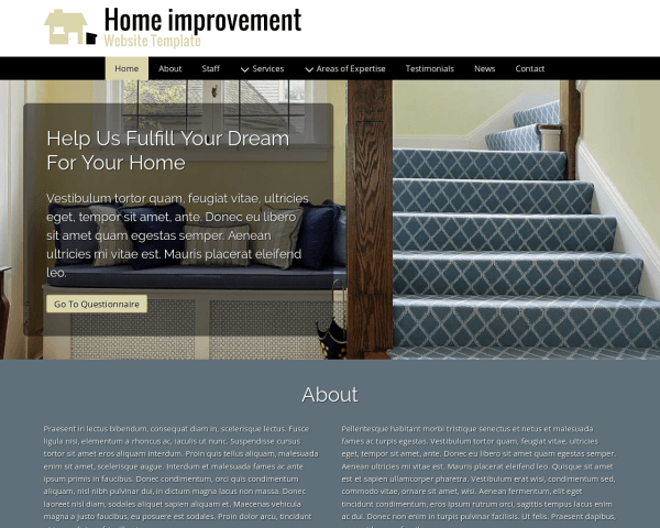 image representation of the Home Improvement Website Template