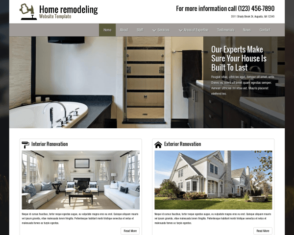 image representation of the Home Remodeling Website Template