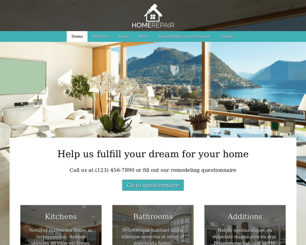 Home Repair WordPress theme thumbnail (desktop screenshot)