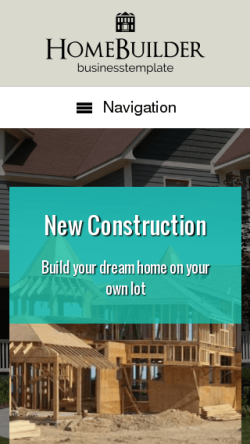 mobile phone screenshot WordPress theme 'Home Builder WordPress theme'