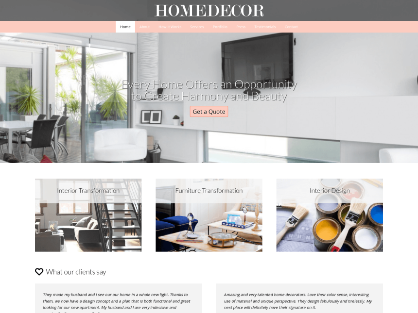 Home Decor Wordpress Theme - Premium Wp Template For Interior
