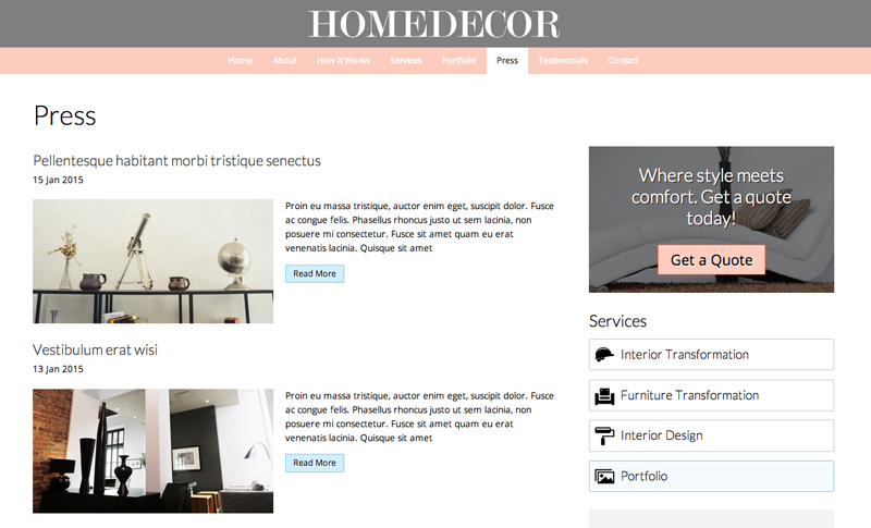 home decor wordpress theme premium wp template for home decor wordpress theme 38218
