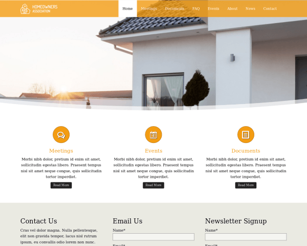 Homeowners Association Wordpress Theme - Template For Homeowners ...