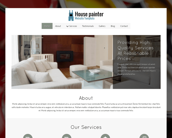 House Painter Website Template