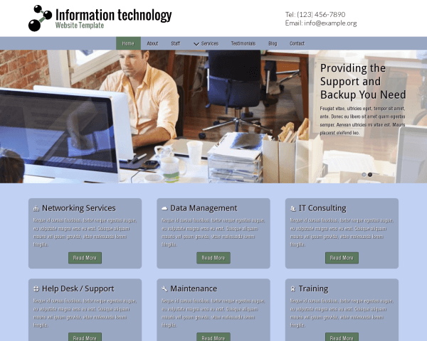 Information Technology Website Template