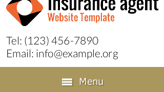 landscape iphone mobile of WordPress theme 'Insurance Agent Website Template'