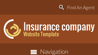 landscape iphone mobile of WordPress theme 'Insurance Company Website Template'
