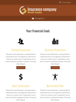 tablet screenshot WordPress theme 'Insurance Company Website Template'