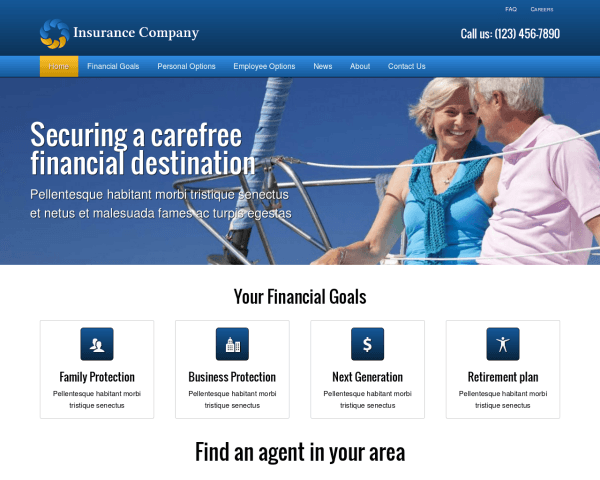 Insurance Company WordPress theme thumbnail (desktop screenshot)