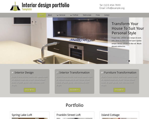 image representation of the Interior Design Portfolio Template