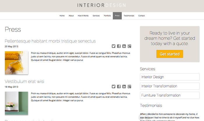 Best Interior Design Wordpress Theme Mobile With Getting Started In