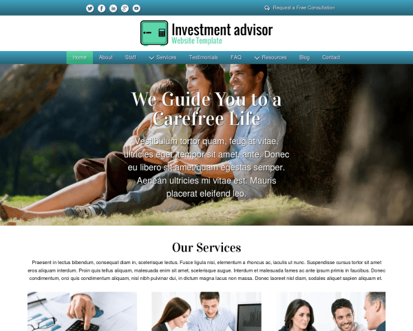 Investment Advisor Website Template