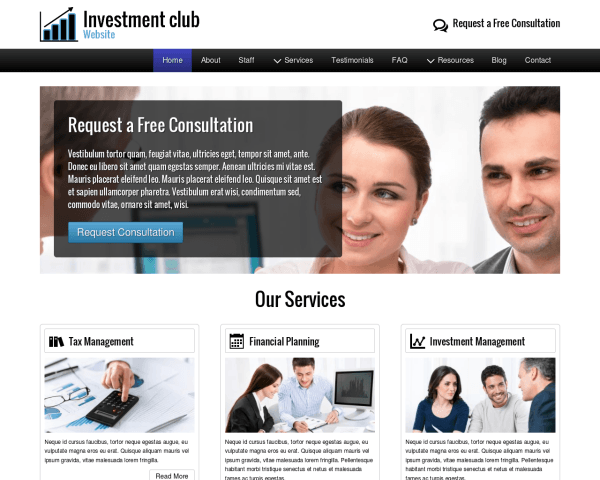 Investment Club Website