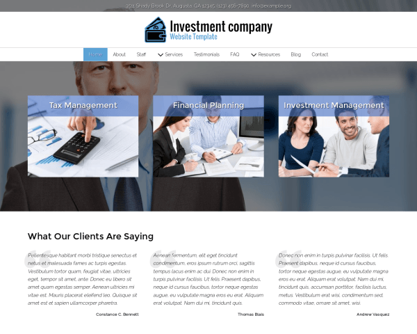 Investment Company Website Template