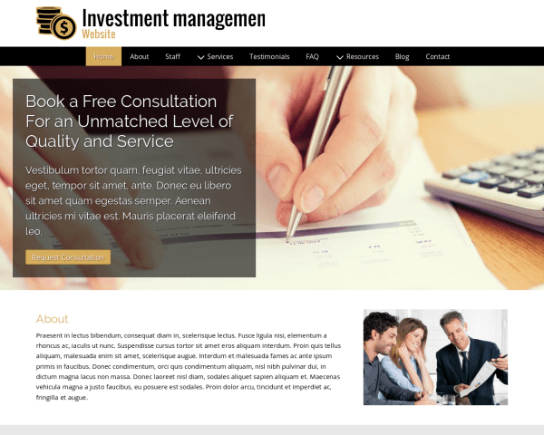 Investment Management Website