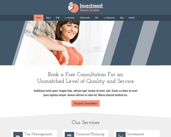 Investment Website Template