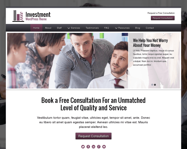 Investment Wordpress Theme