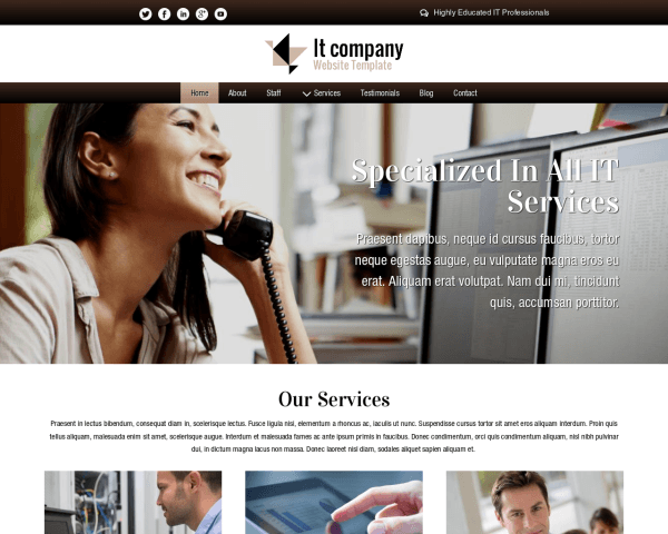 image representation of the It Company Website Template