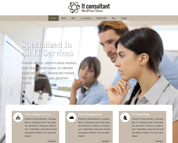 image representation of the It Consultant Wordpress Theme