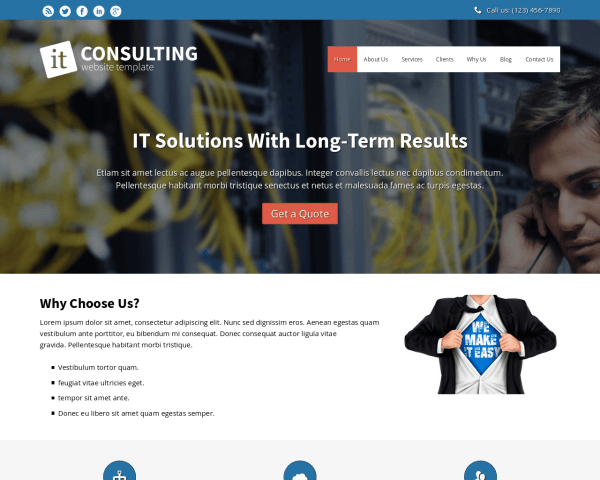 It Consulting Website Template