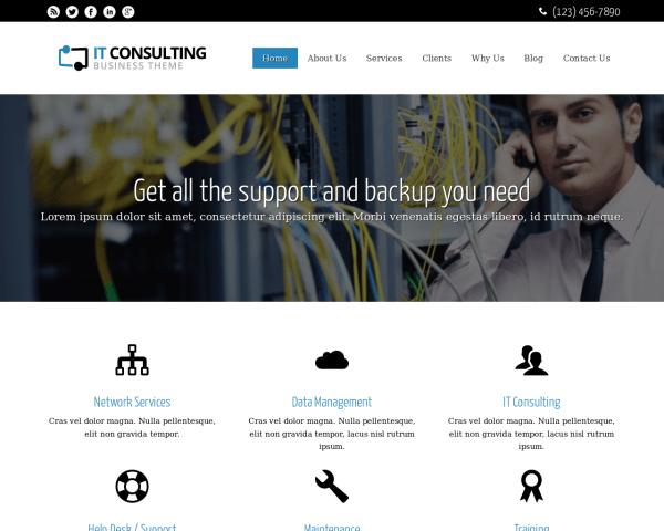 IT Consulting WordPress theme thumbnail (desktop screenshot)