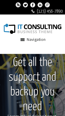 mobile phone screenshot WordPress theme 'IT Consulting WordPress theme'