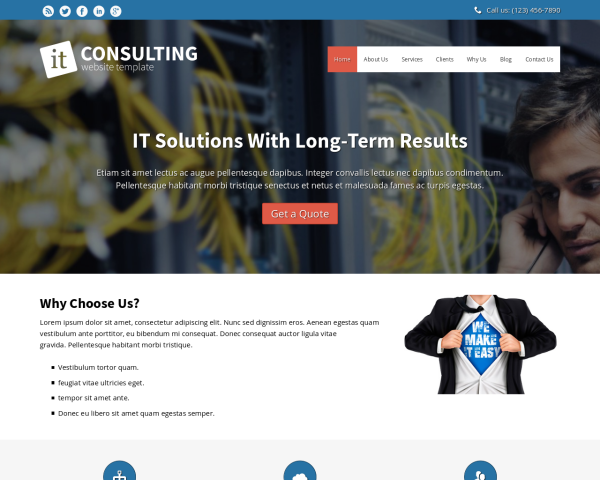 image representation of the IT Consulting Website Template
